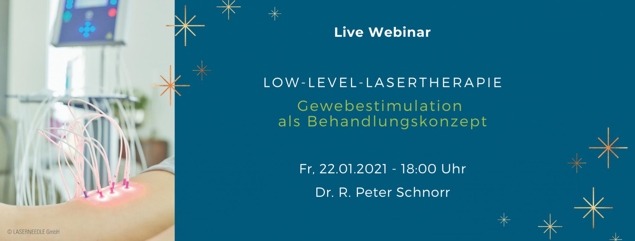 Low-Level-Lasertherapie, Laserneedle, Webinar, Dr. Schnorr, PEROmed